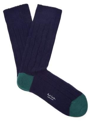 Paul Smith - Ribbed Knit Socks - Mens - Navy