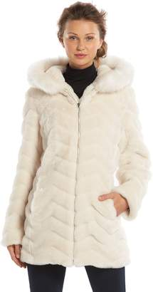 Gallery Women's Hooded Faux-Fur Jacket