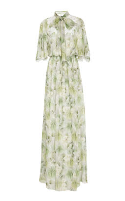 Giambattista Valli Peasant Silk Maxi Dress