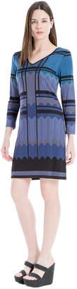 Max Studio geo v-neck dress