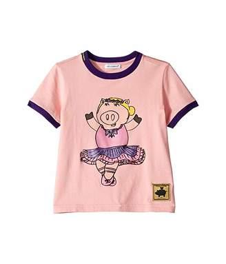 Dolce & Gabbana Ballerina Piggie T-Shirt (Little Kids)