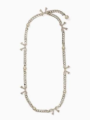 Kate Spade Pearl & bow chain belt
