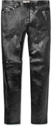 Saint Laurent Skinny-Fit Leather Trousers $2,990 thestylecure.com