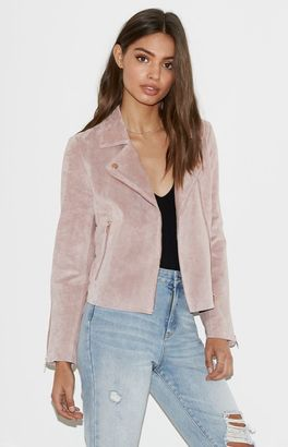 Kendall & Kylie Suede Moto Jacket $195.95 thestylecure.com