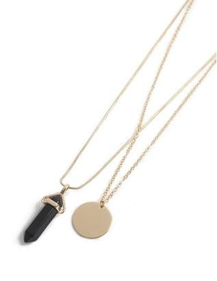 Topman Mens Black Gold Layered Necklace*