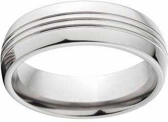 ONLINE Polished 8mm Titanium Wedding Band with Comfort Fit Design