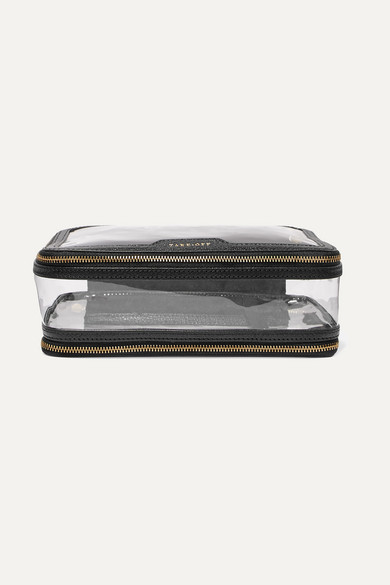 Anya Hindmarch Anya Hindmarch - Inflight Leather-trimmed Perspex Cosmetics Case - Black