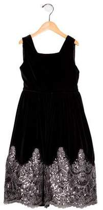 Isabel Garreton Girls' Velvet Embellished Dress