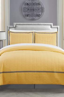 Dawn Hotel Collection Duvet Cover Set - Yellow