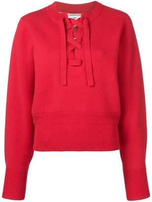 Etoile Isabel Marant lace-up long sleeve sweater