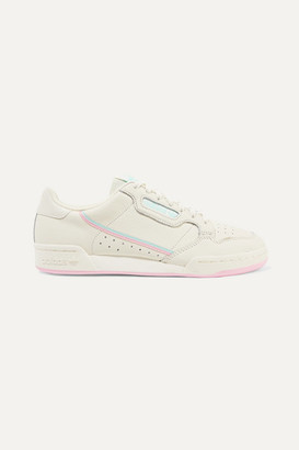 adidas Continental 80 Grosgrain-trimmed Textured-leather Sneakers - Off-white