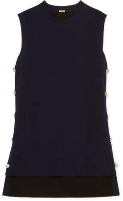 ADAM by Adam Lippes Embellished Merino Wool Sweater - Navy