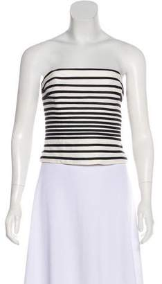 Halston Striped Strapless Top