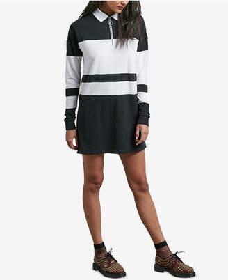 Volcom Juniors' Pique Boo Rugby-Striped Polo Dress