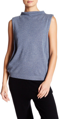 Inhabit Funnel Neck Sleeveless Cashmere Sweater $319 thestylecure.com