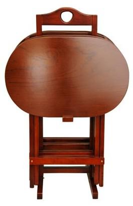 Oriental Furniture TV Tray Set - Set of 4