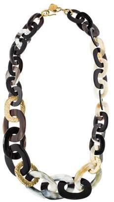 Ashley Pittman Laini Mixed Horn Link Necklace