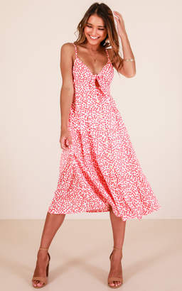 Showpo Life Goes On dress in red floral