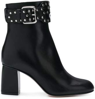 RED Valentino RED(V) buckle studded ankle boots