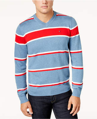 Tommy Hilfiger Men's Victory Stripe Sweater, Created for Macy's