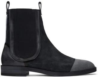 Maison Margiela Black Suede Deconstructed Chelsea Boots
