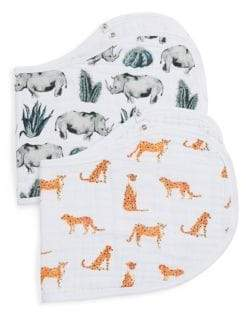 Aden Anais aden + anais Baby's Two-Piece Serengeti Cotton Burpy Bibs