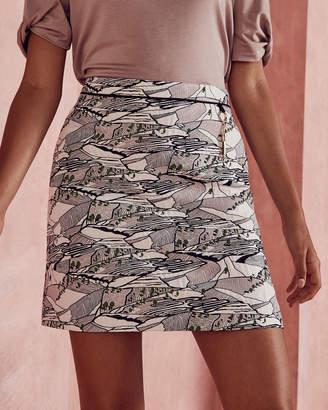 Ted Baker BOBIE Landscape jacquard skirt