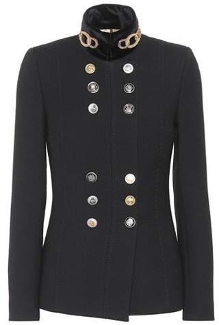 Jacke aus Wolle und Baumwolle