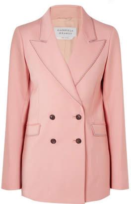 Gabriela Hearst - Angela Double-breasted Wool-blend Blazer - Blush