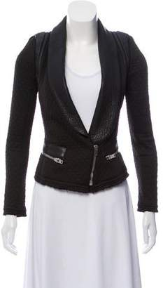 IRO Ashby Leather-Trimmed Jacket