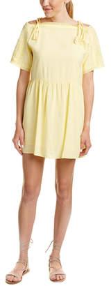 Esley Collection Cold-Shoulder A-Line Dress
