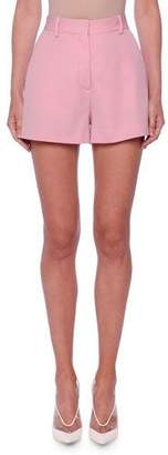 Stella McCartney Classic Flat-Front Wool Shorts