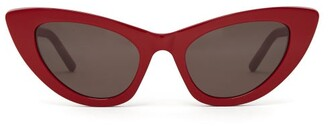 Saint Laurent Lily Cat Eye Acetate Sunglasses - Womens - Red