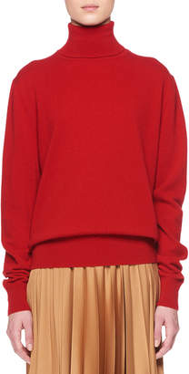 The Row Donnie Turtleneck Long-Sleeve Cashmere Sweater