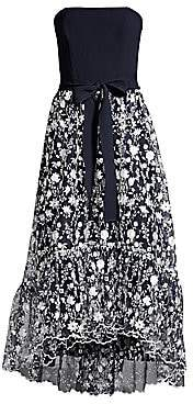 Shoshanna Women's Mailly Strapless Belted Dress