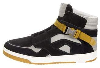 Louis Vuitton Round-Toe High-Top Sneakers