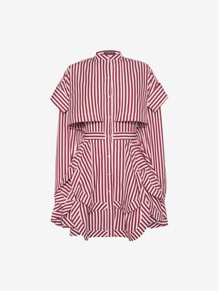 Alexander McQueen Deconstructed Mini Shirt Dress