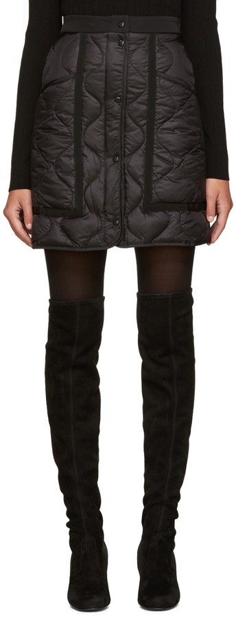 Moncler Moncler Black Quilted Down Miniskirt