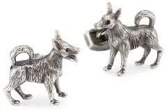 Tateossian Crystal Dog Cuff Links