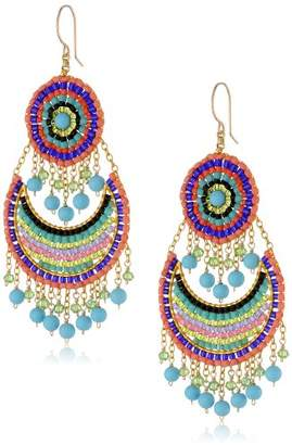 Miguel Ases Turquoise and colored Small Bohemian Drop Earrings