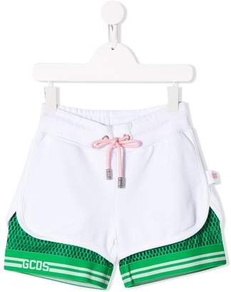 Gcds Kids mesh layer shorts