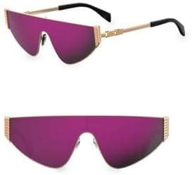Moschino 99MM Metal Shield Sunglasses