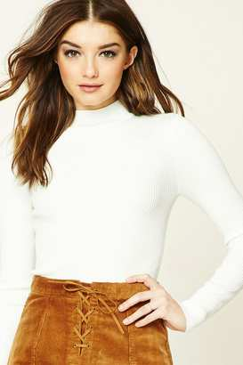 FOREVER 21+ Ribbed Mock Neck Sweater $14.90 thestylecure.com