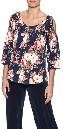 Veronica M Cold Shoulder Floral Top