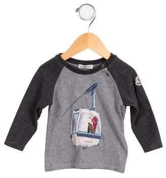 Moncler Boys' Printed Long Sleeve Shirt