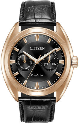Citizen Men's Eco-Drive Dress Black Leather Strap Watch 43mm BU4013-07H