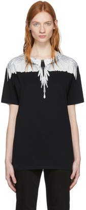Marcelo Burlon County of Milan White and Black Wing T-Shirt
