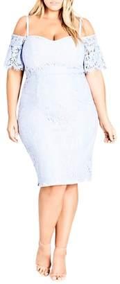 City Chic Lace Whisper Dress