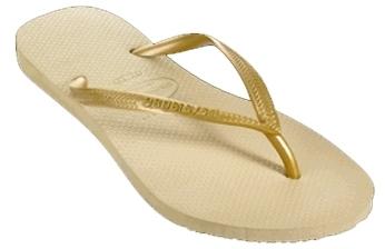 Havaianas - Women's Gold Slim Flip-Flops