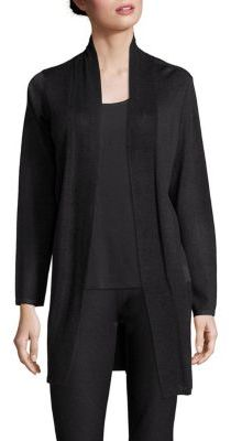 Eileen Fisher Open-Front Kimono Cardigan $258 thestylecure.com